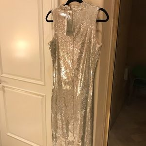 ZARA sequin dress SILVER NEW!